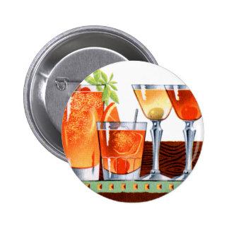 Retro Vintage Kitsch 60s Cocktails Drinks Martinis 6 Cm Round Badge
