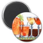 Retro Vintage Kitsch 60s Cocktails Drinks Martinis Magnet