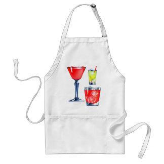 Retro Vintage Kitsch 60s Cocktails Drinks Martinis Standard Apron