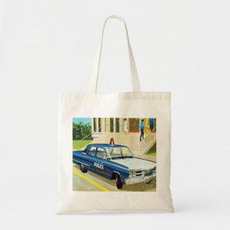 Retro Vintage Kitsch 60s Cops Police Car Cruiser Bag