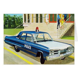 Retro Vintage Kitsch 60s Cops Police Car Cruiser Card