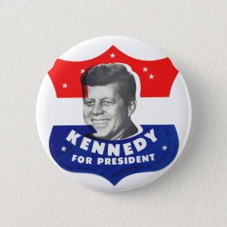 Retro Vintage Kitsch 60s Kennedy For President 6 Cm Round Badge