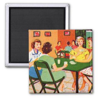 Retro Vintage Kitsch 60s Resort Ad Brochure Cards Square Magnet