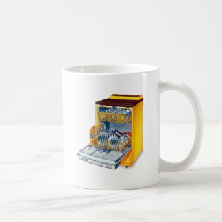 Retro Vintage Kitsch 70s Dishwasher Coffee Mug