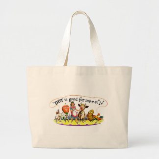 Retro Vintage Kitsch Ad DDT is Good for Me Jumbo Tote Bag