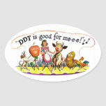 Retro Vintage Kitsch Ad DDT is Good for Me Oval Sticker