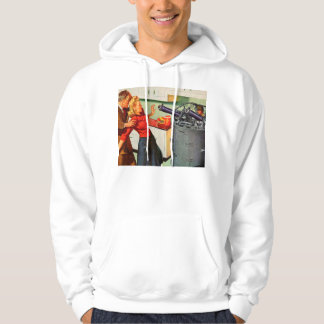 Retro Vintage Kitsch Ad Kitchen Battle Hoodie