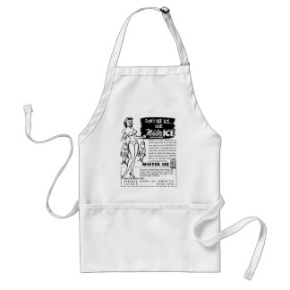 Retro Vintage Kitsch Ad Mister Ice Girl Aprons