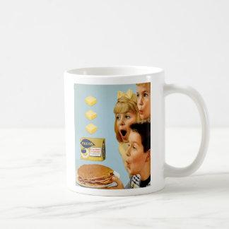 Retro Vintage Kitsch Ad Nucoa Margarine 3 Pats Basic White Mug