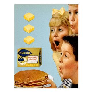 Retro Vintage Kitsch Ad Nucoa Margarine 3 Pats Postcard