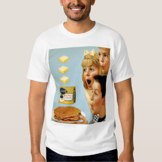 Retro Vintage Kitsch Ad Nucoa Margarine 3 Pats T-shirts