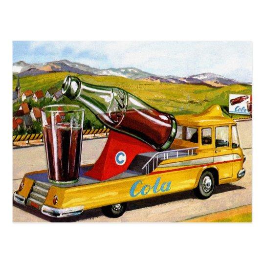 Retro Vintage Kitsch Advertising 60s Cola Truck Postcard