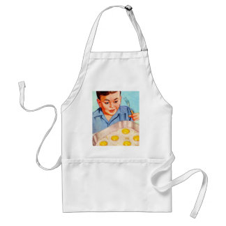 Retro Vintage Kitsch Advertisment Fried Eggs! Standard Apron