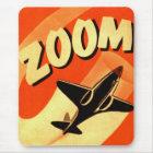 Retro Vintage Kitsch Aeroplane Planes Zoom Mouse Mat