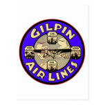 Retro Vintage Kitsch Aeroplanes Gilpin Airlines Post Card