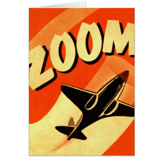 Retro Vintage Kitsch Airplane Planes Zoom Greeting Card