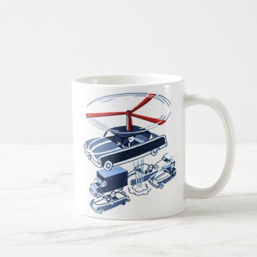 Retro Vintage Kitsch Automobile Traffic Jam Buster Basic White Mug