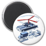 Retro Vintage Kitsch Automobile Traffic Jam Buster Magnet
