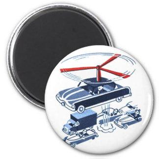 Retro Vintage Kitsch Automobile Traffic Jam Buster Magnet