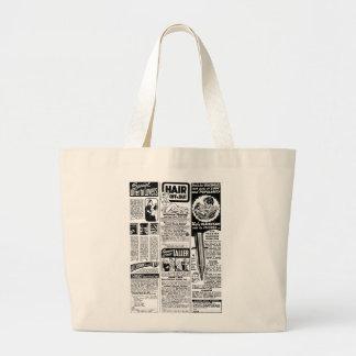 Retro Vintage Kitsch Bad Magazine Ads Jumbo Tote Bag