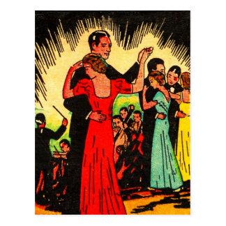 Retro Vintage Kitsch Ballroom Dancers Post Cards