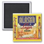 Retro Vintage Kitsch Beer Alaska Lager Label Refrigerator Magnets