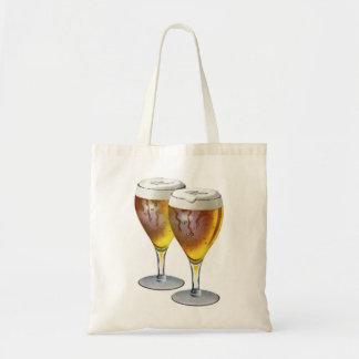 Retro Vintage Kitsch Beer Ale Beer Glasses Ad Budget Tote Bag