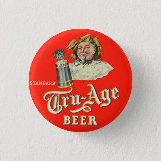 Retro Vintage Kitsch Beer Ale Tru-Age Scranton 3 Cm Round Badge