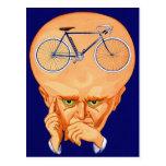Retro Vintage Kitsch Bicycle Head Postcard