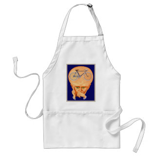 Retro Vintage Kitsch Bicycle Head Standard Apron