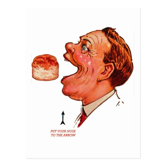 Retro Vintage Kitsch Biscuit Bob Optical Illusion Postcard