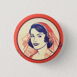 Retro Vintage Kitsch Bridal Shower Party Games 3 Cm Round Badge