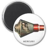 Retro Vintage Kitsch Capsule Mercury Astronaut Magnet