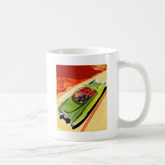 Retro Vintage Kitsch Car Kaiser Frasier Concept Basic White Mug
