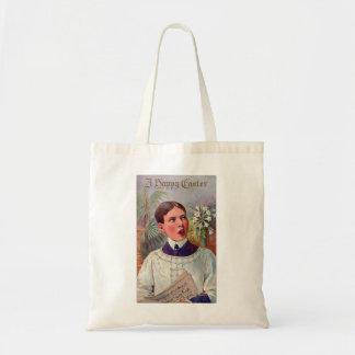 Retro Vintage Kitsch Catholic Altar Boy Easter Budget Tote Bag