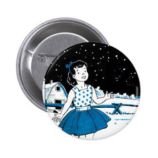 Retro Vintage Kitsch Childrens Book 1000s of Stars 6 Cm Round Badge