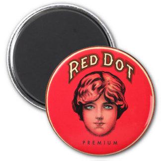 Retro Vintage Kitsch Cigars Red Dot Cigar Tin Refrigerator Magnet
