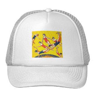 Retro Vintage Kitsch Circus Trapeze Artists Trucker Hat