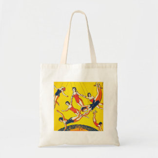 Retro Vintage Kitsch Circus Trapeze Artists Tote Bag