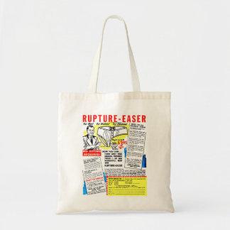 Retro Vintage Kitsch Comic Book Ad Rupture-Easer Budget Tote Bag