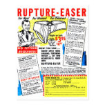 Retro Vintage Kitsch Comic Book Ad Rupture-Easer Post Card