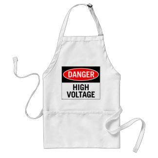 Retro Vintage Kitsch Danger High Voltage Sign Standard Apron