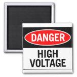 Retro Vintage Kitsch Danger High Voltage Sign Magnet