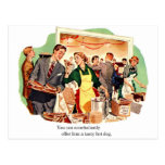 Retro Vintage Kitsch Dating 'Offer Him a Hot Dog' Post Cards