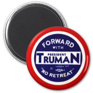 Retro Vintage Kitsch Democrats Forward With Truman Magnet