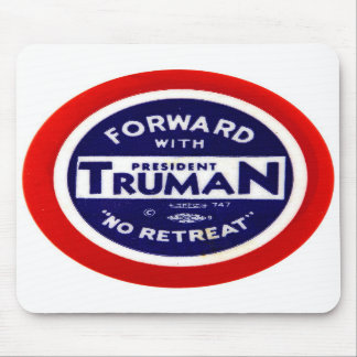 Retro Vintage Kitsch Democrats Forward With Truman Mouse Pads