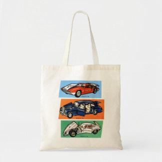 Retro Vintage Kitsch Diecast 60s Toy Cars Canvas Bag
