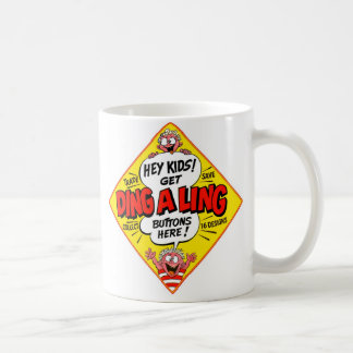 Retro Vintage Kitsch Ding-a-Ling Butons Classic White Coffee Mug