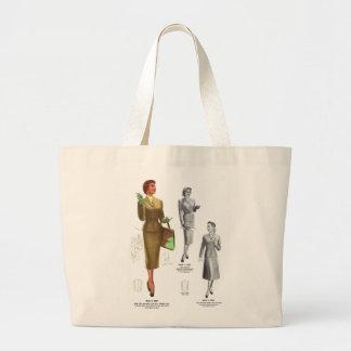 Retro Vintage Kitsch Fashion Women's Wear Canvas Bag