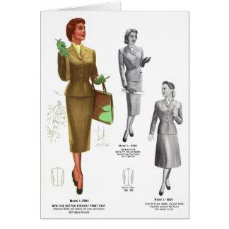 Retro Vintage Kitsch Fashion Women's Wear Greeting Card